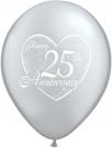 25th anniversary wedding balloons