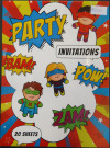 Super Heros Invitation Pad