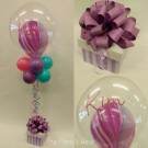 Topiary Bubble Balloon Bow Name Glitter Marble