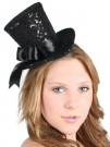 Mini Top Hat Black Sequin