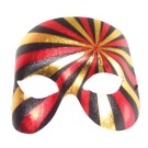 Pyscho Mask Red Black Gold