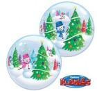 Christmas Snowmen Bubble Balloon