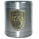 Silver Stubby Holder 18th Birthday Can Cooler
