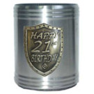 Stubby holder can cooler silver 21st Birthday
