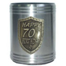 Stubby Holder Can Cooler 70 Silver Birthday