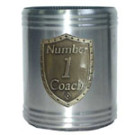 Stubby Holder Can Cooler Number One Coach Silver