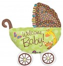 welcome baby pram foil balloon