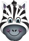 Zebra foil balloon shape qualatex