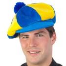 Jockey Cap Plush Blue Yellow