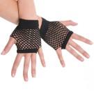 Fingerless Gloves Black 80s