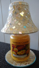 Metallic Gold Crackle Yankee Candle Accessories