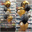 Golden Annviversary Damask Balloon Bouquet