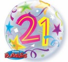 21st Birthday Bubble Balloon