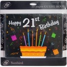 21st Birthday Guest Book Black