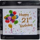 21st Birthday Guest Book White