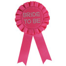 Bride to be Pink Rosette Badge