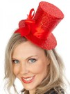 Mini Top Hat Red Sequin