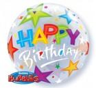 Stars Birthday Bubble Balloon