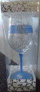 Blue Mary T Designs 18 Wine Glass