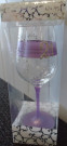 Lavender 21st Wine Glass Mary T Designs