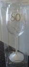 White 80 Mary T Designs Wine Glass