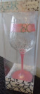 Pink 80 Wine Glass Mary T Designs