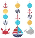 Ahoy Matey Nautical Hanging Cutouts