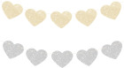Reversible gold & silver glitter heart garlands