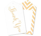 Thank You Tags Notes Gold Illume Partyware
