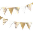 Gold Bunting Spots Stripes Chevron Illume Partyware
