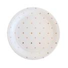 Illume Partyware Tableware Dessert Plates Gold Pink