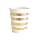Gold Stripe Cups Illume Partyware