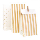 Gold Stripe Dots Illume Partyware Tableware Treat Loot Bags