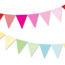 Rainbow Chevron Bunting Decorations Illume Partyware