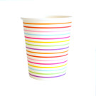 Rainbow Strip Cup Illume Partyware Tableware