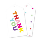 Rainbow Stars Thank You Tags Cards Illume Partyware