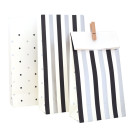 Silver Black Stripes Dots Spots Treat Bags Illume Partyware