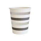 Silver Black Stripes Cup Tableware Illume Partyware