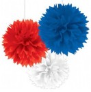 White Red Blue Decor Balls