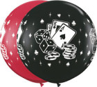 3 foot Casino Print Balloons