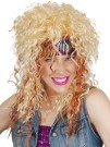 80s blonde rocker rock wig