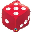 Dice Foil Balloon Qualatex Casino