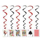Playing Card whirls Vegas Casino Decorations
