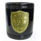 Stubby Holder can cooler 30th Birthday gold black
