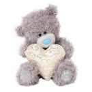 Gold Heart Tatty Teddy Blue Nose Bear