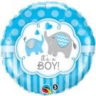 It's A Boy Foil Balloon Blue Elephant