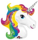 Rainbow Unicorn Foil Balloon Shape
