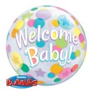 Welcome Baby Bubble Balloon Qualatex