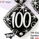 100th Birthday Black Foil Balloon