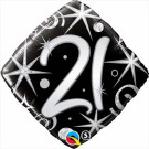 21 Birthday Foil Balloon Black